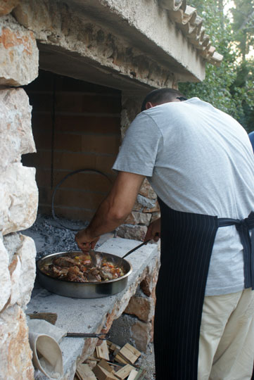 Cuisine, camp Sibuljina, Croatia
