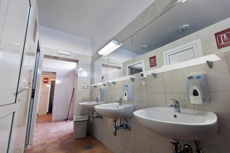 Bathroom, camp Sibuljina, Croatia