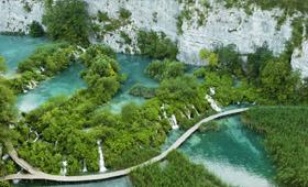 Die Flussbassins von Plitvice