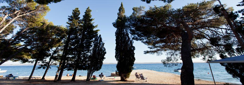 Strand, camp Sibuljina ,Kroatien